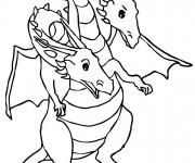 Coloriage Dragon à deux tête