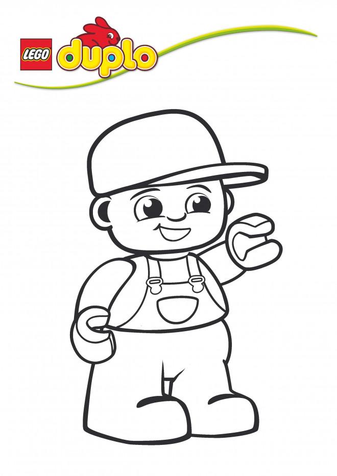 Coloriage et dessins gratuits garçon Lego Duplo à imprimer