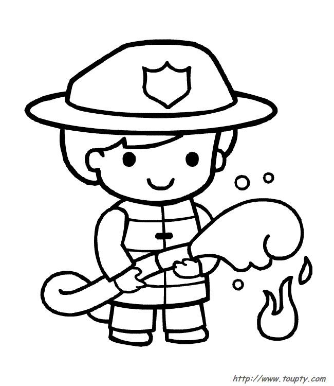 Coloriage Le Garcon Pompier Dessin Gratuit A Imprimer