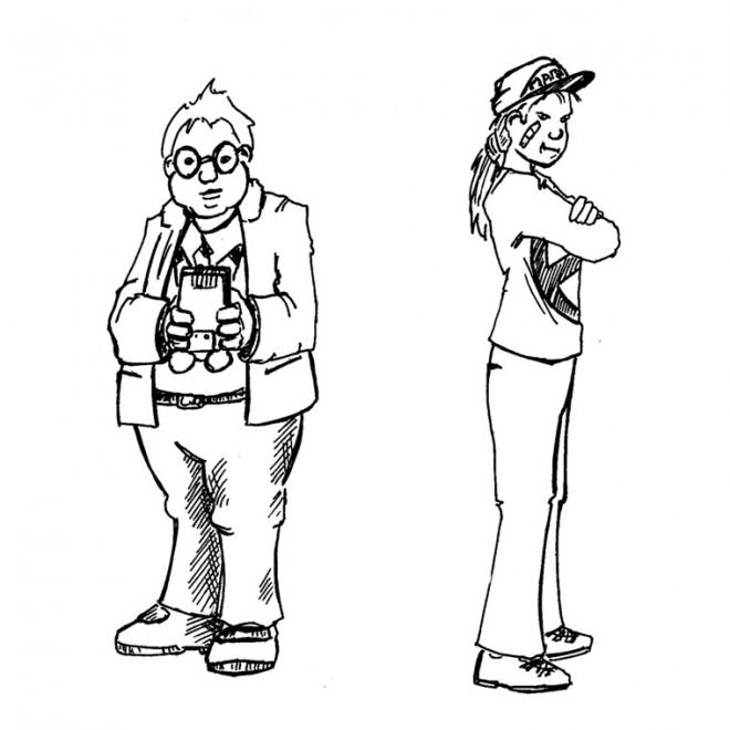 Coloriage et dessins gratuits Les adolescents à imprimer