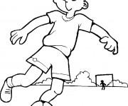 Coloriage Un enfant avec son ballon