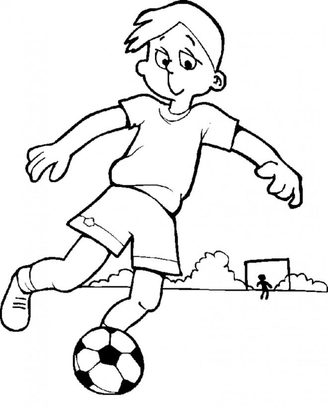 Coloriage et dessins gratuits Un enfant avec son ballon à imprimer