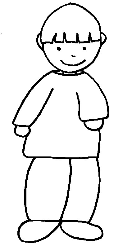 Coloriage et dessins gratuits Un enfant sourit à imprimer