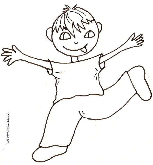 Coloriage et dessins gratuits Un garçon jouant à imprimer