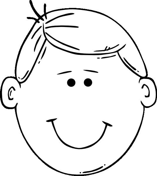 Coloriage et dessins gratuits un garçon tout souriant à imprimer