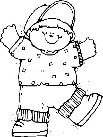 Coloriage et dessins gratuits Un gros garçon à imprimer