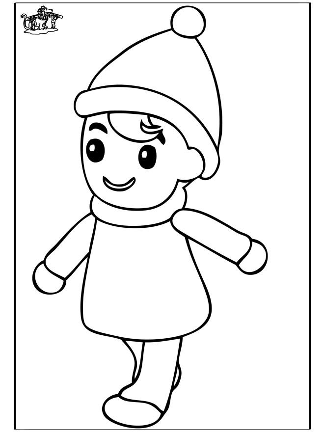 Coloriage et dessins gratuits Une fille portant un bonnet à imprimer