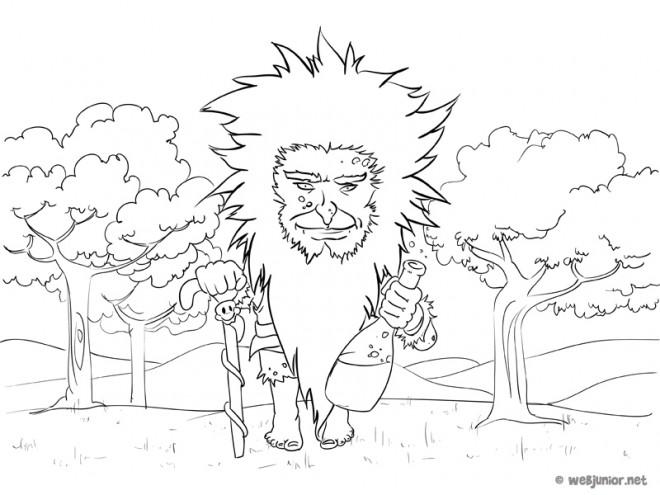 Coloriage et dessins gratuits Géant de la forêt à imprimer