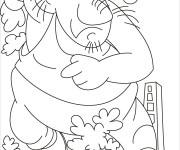 Coloriage et dessins gratuit Géant en courant à imprimer