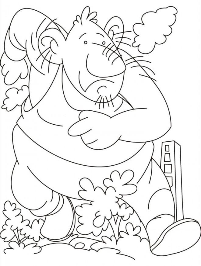Coloriage et dessins gratuits Géant en courant à imprimer