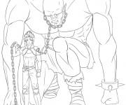 Coloriage et dessins gratuit Géant esclave à imprimer