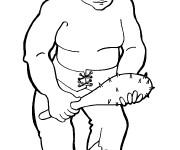 Coloriage et dessins gratuit Géant et son bâton à imprimer