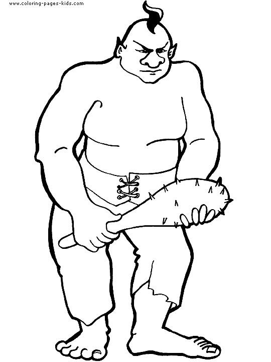 Coloriage et dessins gratuits Géant et son bâton à imprimer