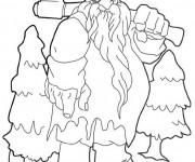 Coloriage et dessins gratuit Géant Noel à imprimer