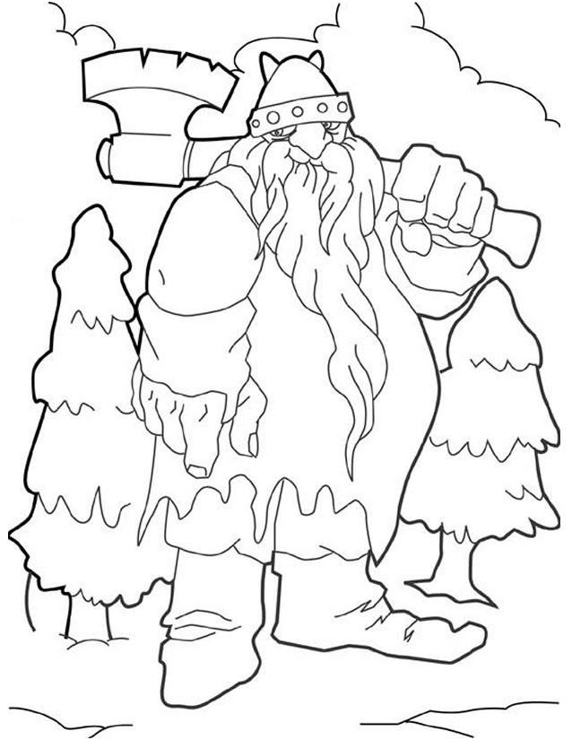 Coloriage et dessins gratuits Géant Noel à imprimer