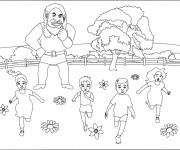 Coloriage et dessins gratuit Géant qui fait peur à imprimer