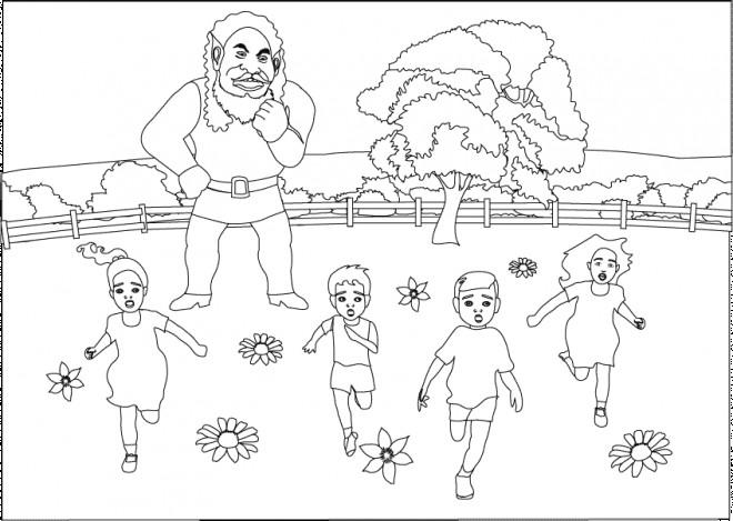 Coloriage et dessins gratuits Géant qui fait peur à imprimer