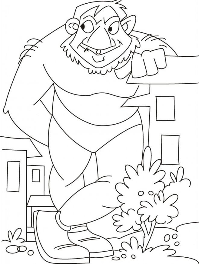 Coloriage et dessins gratuits Géant rigolo à imprimer