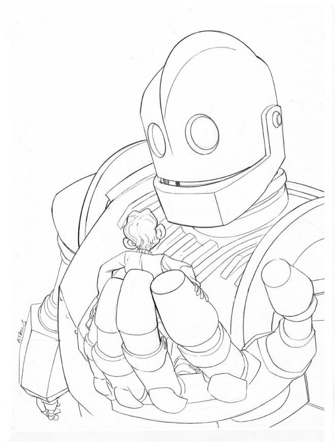 Coloriage et dessins gratuits Géant Robot pour enfant à imprimer