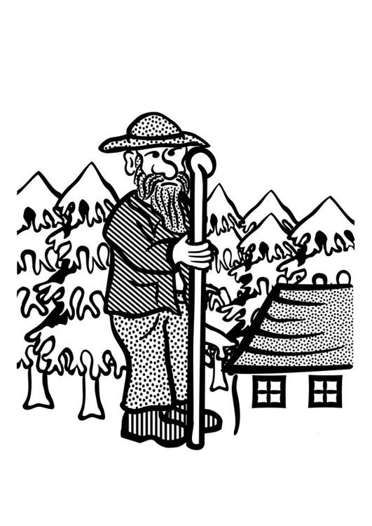 Coloriage et dessins gratuits Géant vecteur à imprimer