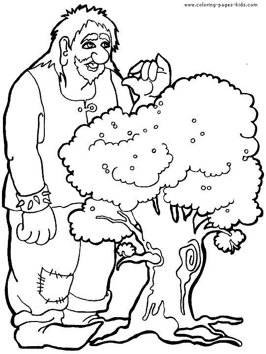 Coloriage et dessins gratuits Le Géant et L'arbre à imprimer