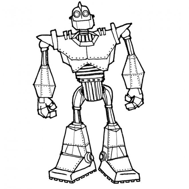 Coloriage et dessins gratuits Robot Géant à imprimer