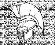 Coloriage Casque de  Guerrier romain