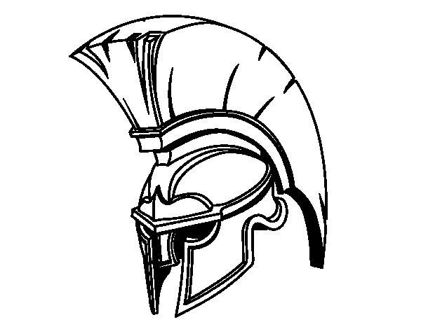 Coloriage et dessins gratuits Casque de légendaire romain à imprimer