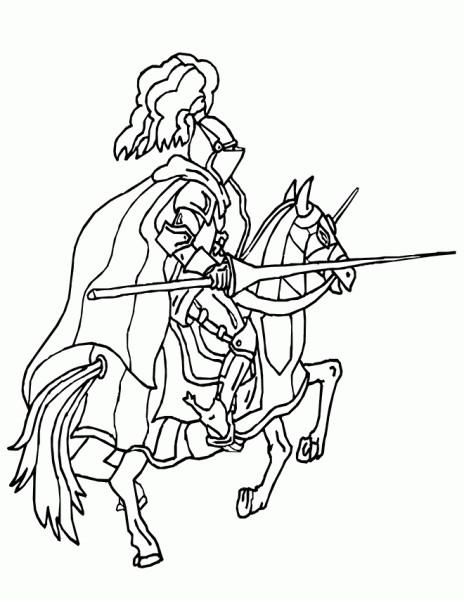 Coloriage et dessins gratuits Chevalier britanique à imprimer