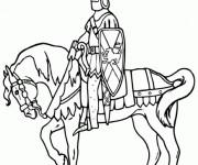 Coloriage Chevalier guerrier ligne