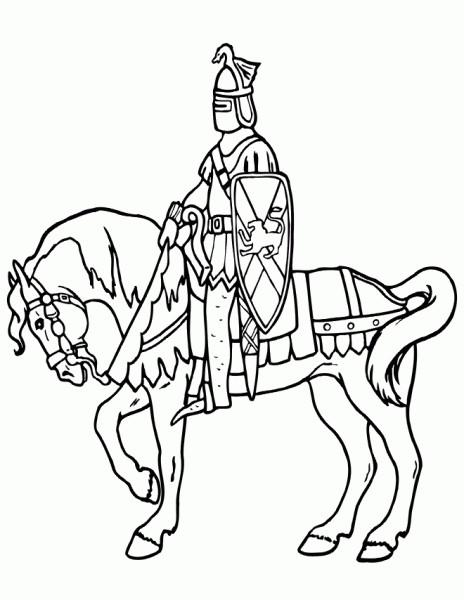Coloriage et dessins gratuits Chevalier guerrier ligne à imprimer