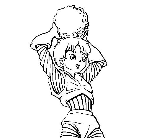 Coloriage et dessins gratuits Fille guerrière à imprimer