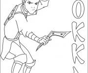 Coloriage dessin  Guerrier 6