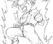 Coloriage Guerrier Dragon Ball Z