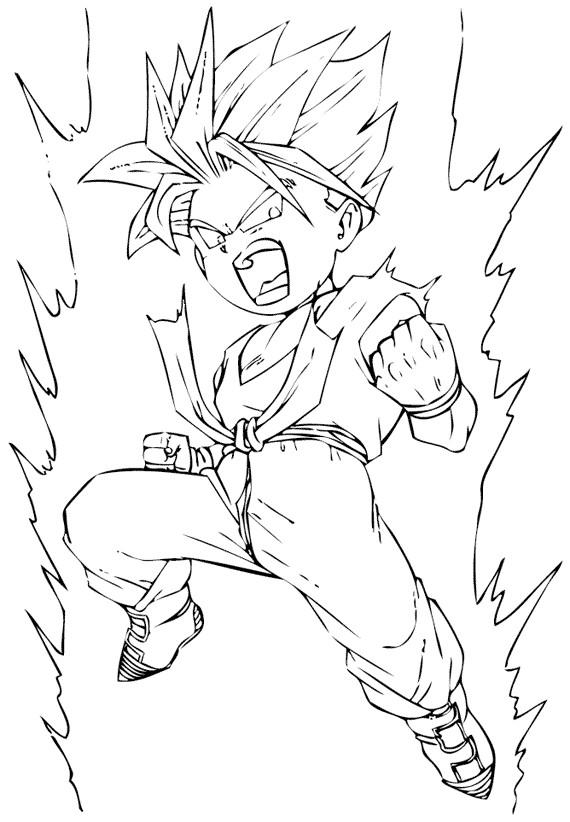 Coloriage et dessins gratuits Guerrier Dragon Ball Z à imprimer