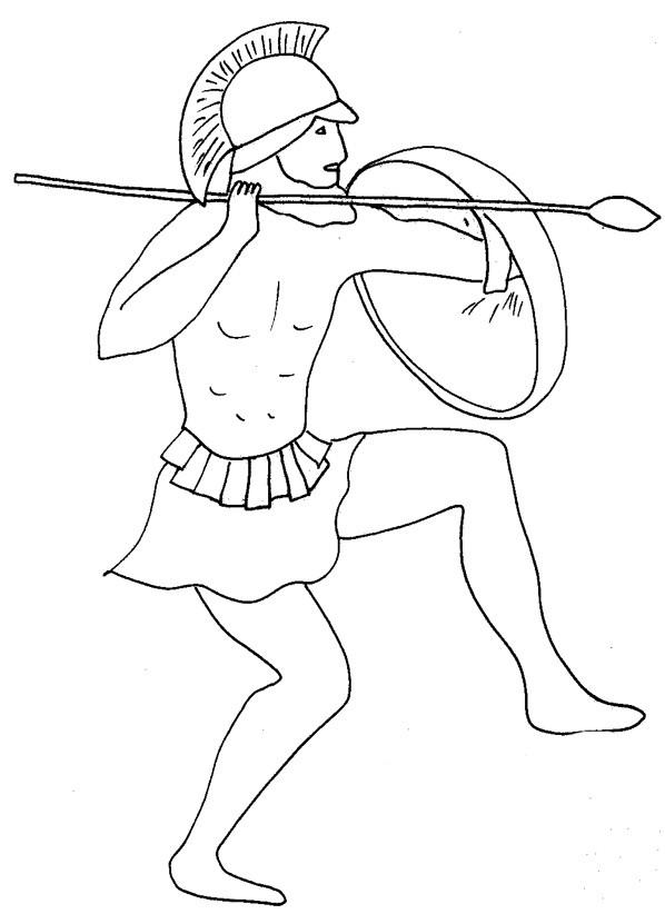 Coloriage et dessins gratuits Guerrier grec à imprimer