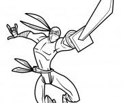 Coloriage Guerrier Ninja