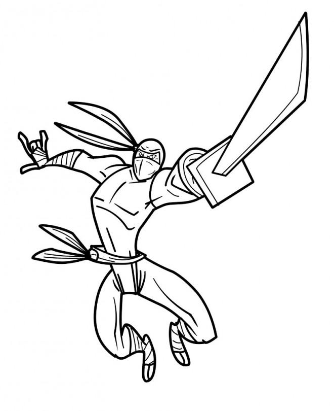 Coloriage et dessins gratuits Guerrier Ninja à imprimer