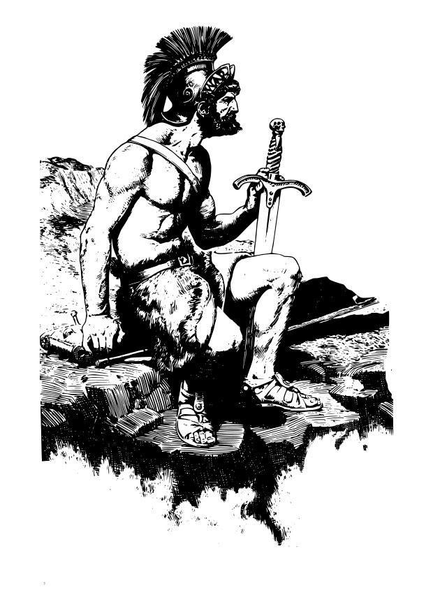 Coloriage et dessins gratuits Guerrier romain à imprimer