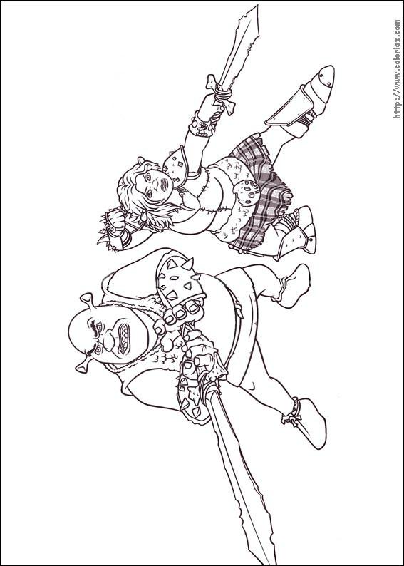 Coloriage et dessins gratuits Guerrier Shrek à imprimer