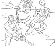 Coloriage Les Vikings Guerriers