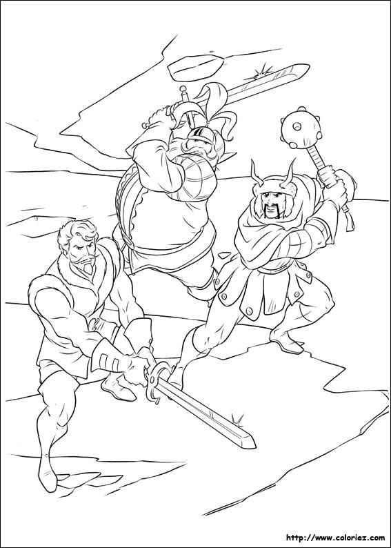 Coloriage et dessins gratuits Les Vikings Guerriers à imprimer