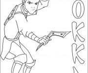 Coloriage et dessins gratuit Sokka le guerrier à imprimer