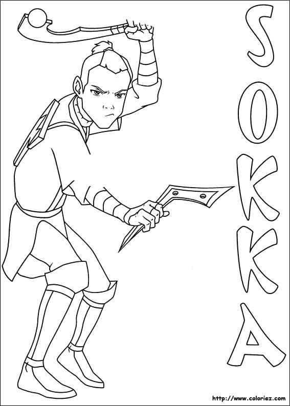 Coloriage et dessins gratuits Sokka le guerrier à imprimer
