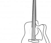 Coloriage et dessins gratuit Dessin de Guitare à imprimer