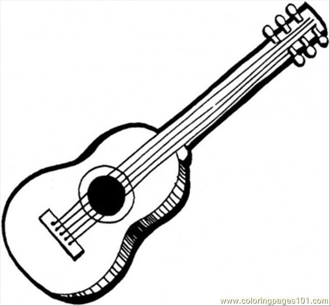 Coloriage et dessins gratuits Guitare acoustique à imprimer à imprimer