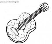 Coloriage et dessins gratuit Guitare classique à imprimer