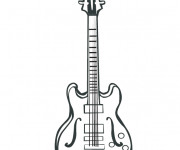 Coloriage et dessins gratuit Guitare dessin en couleur à imprimer