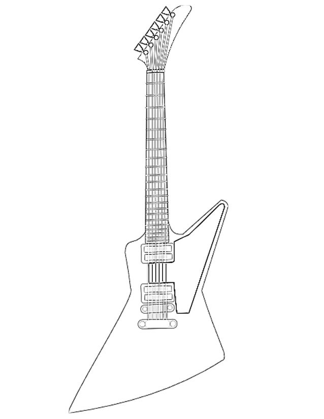 Coloriage et dessins gratuits Guitare électrique originale à imprimer