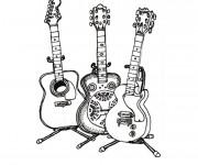 Coloriage et dessins gratuit Guitare en ligne à imprimer